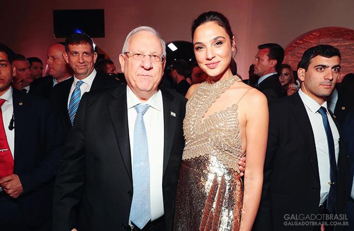 Reuven Rivlin, presidente de Israel e Gal Gadot