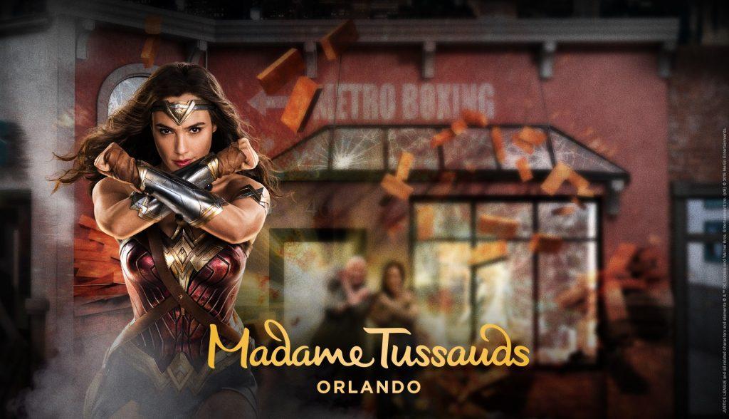 Gal Gadot como Mulher-Maravilha em atração do museu de cera, Madame Tussauds